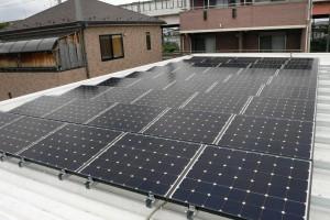 A社太陽光パネル設置の様子