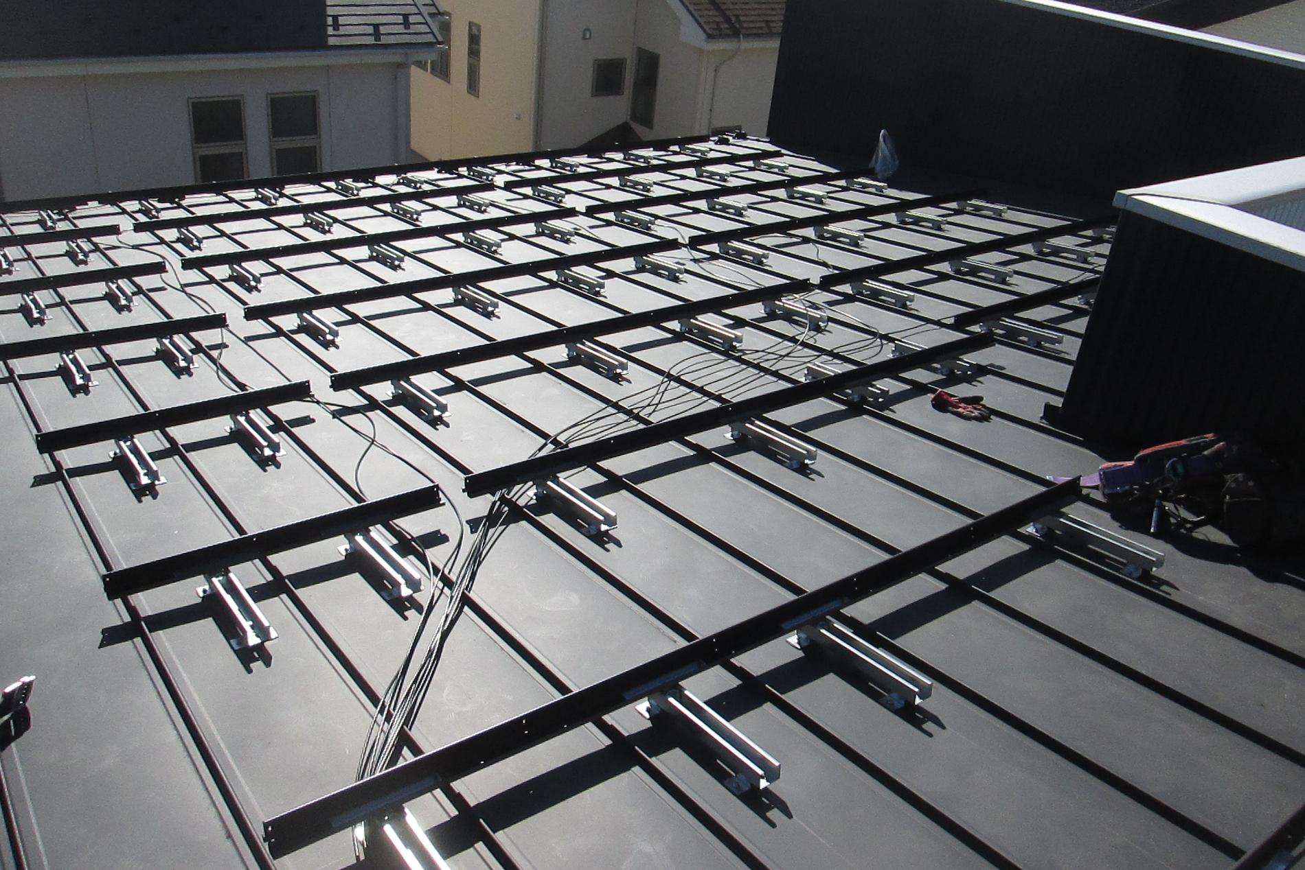 T様太陽光発電システム土台