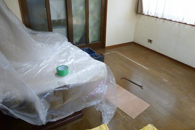 O様床暖房工事の下準備