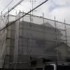 新座市A様の外壁工事の様子